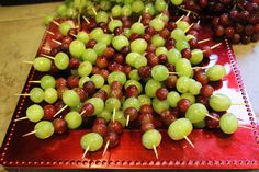 By Kathleen Heady For my kids Birthday Party I decided to make Shish Kabob Grapes as one of the appetizers. There were only 4 left from this plate after the party was done that totaled eight kids. …