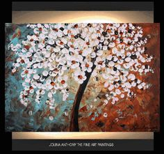 Abstract Painting original Tree painting Impasto by jolinaanthony, $289.00