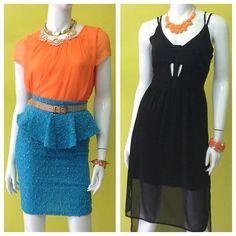 2 opciones muy diferentes para usar hoy en la noche, con cuál te identificas más? #partynight #nighout #fun #clothes #peplum #cutout