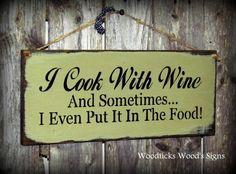 Kitchen Wine Sign diy-crafties