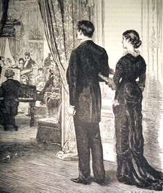 'Together they entered the drawing-room.' Cassell's Family Magazine, 1881.