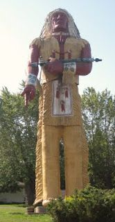 Hiawatha, world's tallest Indian, Ironwood, Michigan.