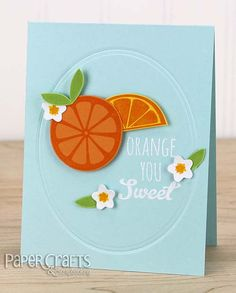 Get inspired by summer fruit when making cards; Kimberly Crawford - Paper Crafts & Scrapbooking blog; make cards, all occasion, stamping