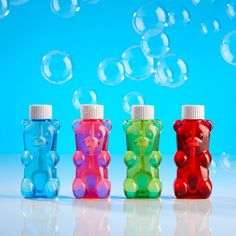 Gummygood Bubbles overflow with iridescent shine in a gummy bear bottle. Candy Theme Birthday Party, 6th Birthday Parties, Candy Party, 4th Birthday, Build A Bear Birthday, Arrow Of Light Ceremony, Kindergarten Party, Arrow Of Lights, Bear Party