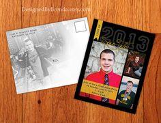 Graduation Invitation Postcard - with photos