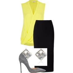 22/125 by fel3 on Polyvore featuring polyvore fashion style River Island Roland Mouret Gianvito Rossi