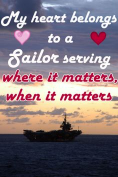 Our #USNavy is nothing without our Sailors, but our Sailors are nothing without YOUR love and support.   Like it, pin it, and wish your Sailor a Happy Valentine's Day!