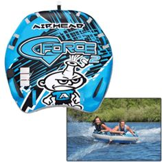 AIRHEAD G-Force Boating Lake Summer Cabin Fun Tanning Tubing Towable Inflatable #Airhead