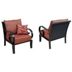 Allen + Roth Pardini Pardini 2-Count Oil Bronze Aluminum Patio Conversation Chair Lg-2156-Le