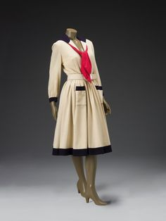 """omgthatdress:  """" Dress  Norman Norell, 1947  The Indianapolis Museum of Art  """""""
