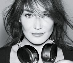 Carla Bruni returns to modelling roots with headphone campaign