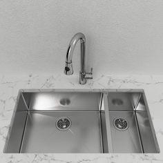 Cantrio Double Bowl Stainless Steel Undermount Kitchen Sink