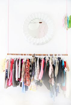 Kids Clothes Stores Near Me Hanging Clothes Racks, Diy Clothes Rack, Hanging Racks, Diy Hanging, Kids Clothing Brands List, Kids Clothing Rack, Dream Kids, Second Hand Furniture, Baby Boy Fashion