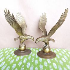Image result for Large Brass VINTAGE eagle in flight finial