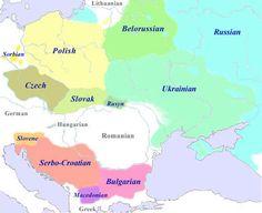 he Slavic Languages  West Slavic:South Slavic:East Slavic: Czech-Slovak sub-group: - Czech - Slovak Lechitic sub-group: - Polish - Kaszubian - Polabian Sorbian sub-group: - Upper Sorbian - Lower Sorbian Western sub-group: - Serbo-Croatian - Slovenian Eastern sub-group: - Old Church Slavonic - Bulgarian - Macedonian - Old Russian - Russian - Belorussian - Ukranian - Rusyn