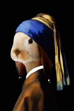 """""""Girl With the Pearl Earring"""" (original by Johannes Vermeer) 