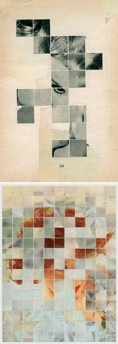 Collages by London based artist Anthony Gerace. Found faces jumbled up into new peek-a-booish compositions.