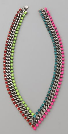 DANNIJO Hart V Necklace, awesome necklace but wouldn't pay $300 for it. Great colour combination and shape.