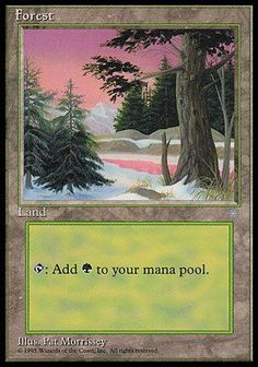 Magic: the Gathering - Forest (329) - Ice Age