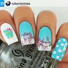 Instagram media by nailpromote - #Repost @rubyrominaa ・・・ How cute are these decals from @foxandowlpolish! These will be available in her shop very soon Follow Jess for more info! Polishes used are Color Club Evolution, OPI Alpine Snow, and China Glaze Fairy Dust.