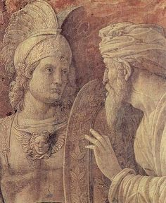 Detail - The triumph of Scipio 1500. Andrea Mantegna