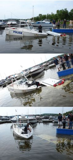A funny police picture by the boat launch ramp.   http://www.cybersalt.org/funny-pictures/marine-unit-emergency#