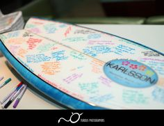 Need a unique Guest Book idea the try a surf board! http://www.furiousphotographersblog