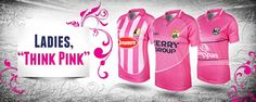 Ladies Think Pink - Great new jersey patterns from O'Neills, The Choice of Champtions Choices, Sportswear, Lady, Pink, Range, Patterns, Fitness, Block Prints, Cookers