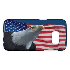 Bald Eagle & US Flag Patriotic Samsung Case