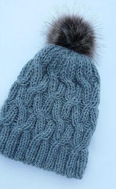 Taikutti: Palmikkopipon ohje Beanie Hats, Handicraft, Headbands, Needlework, Knitted Hats, Free Pattern, Knit Crochet, Diy And Crafts, Knitting Patterns