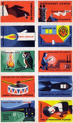 Matchbox labels by Oliver Tomas