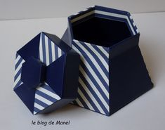 les cartonnages de Manel / la bonbonnière Blog, Container, Cartonnage, Sewing Box, Blogging