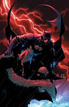 Batman by Jim Lee, and colours by Alex Sinclair *