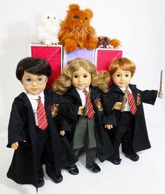 New OoAK Custom Lot Harry Potter 3 Dolls Pets by FashionPlunder