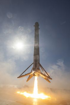 New views of Falcon 9 landing from on-board SpaceX's drone ship | Photo credit: SpaceX