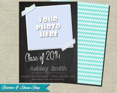 Printable GRADUATION ANNOUNCEMENT CARD - Senior Graduation Announcement Card - Grad Announcement - Graduation Photo Announcement