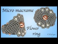 How to micro macrame flower ring - YouTube