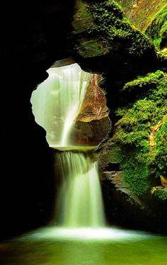 St Nectans Glen Waterfalls, Cornwall, UK