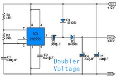 This take place simple Doubler Voltage circuit, from voltage 12VDC to be 24VDC. By benefit Timer IC highly prevalent the come to NE555 and other equipment a modest again.