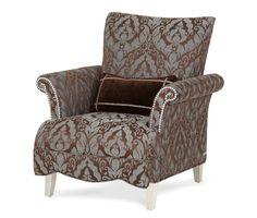 Vanity?? High Back Chair (Group 1 Opt 1)|Hollywood Swank| Michael Amini Furniture Designs | amini.com