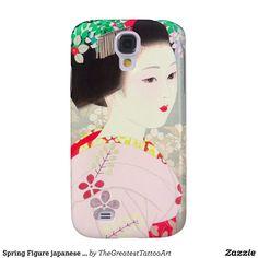 Spring Figure japanese lady woman Kato Shinmei Galaxy S4 Cover