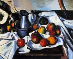 Still Life with Kettle and Fruit by Paul Cezanne