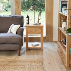 this one door drawer lamp table is a hugely practical piece of furniture to provide