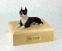 Pet Urn - Boston Terrier Figurine Urn Pet Memorial - Best Friend Services