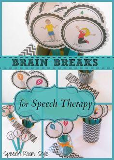 Brain Breaks for Speech Therapy by teachingtalking.com