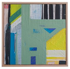 """Megan Donnelly Color and Geometry Oil on panel, framed. 12.75"""" x 12.75"""""""