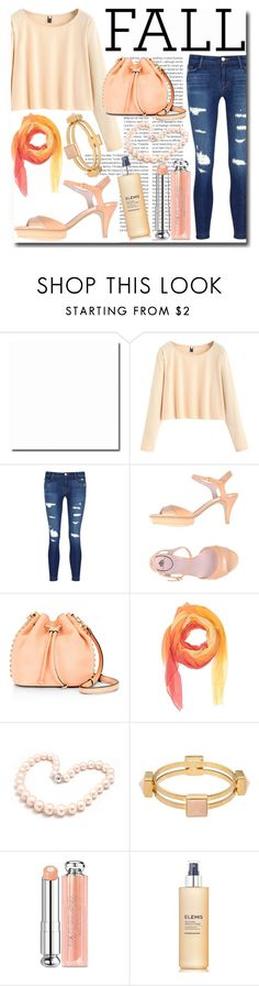 """Fall-Apricot"" by emmy-124fashions ❤ liked on Polyvore featuring Oris, J Brand, Fornarina, Rebecca Minkoff, GUESS, Hiho Silver, Marni, Christian Dior and Elemis"