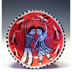 Original Jenny Mendes Painting in a Red Ceramic by jennymendes $65.00