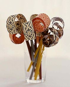 These handmade party blowers are as much fun to create as they are to use. For a paper tongue that will curl properly, choose a decorative paper that is about the same weight as photocopy paper.