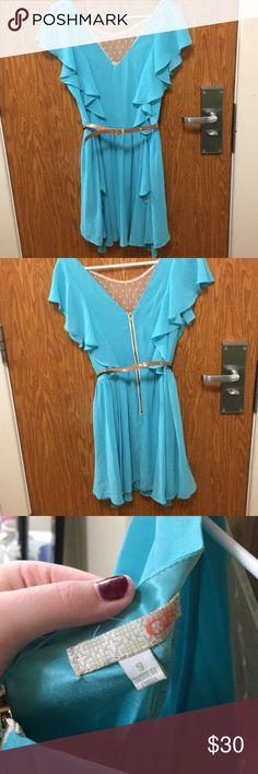 Blue retro dress GB dress from Dillard's   Worn once for a few hours GB Dresses Midi
